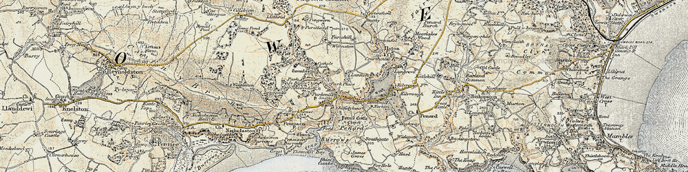Old map of Parkmill in 1900-1901
