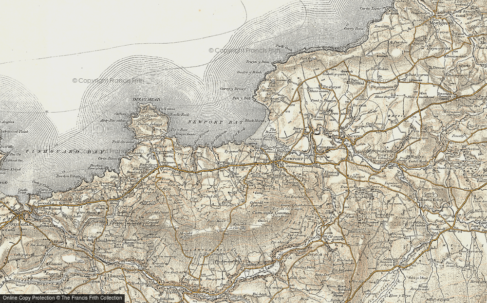 Old Map of Historic Map covering Aber Step in 1901-1912