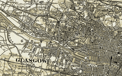 Old map of Linthouse in 1904-1905