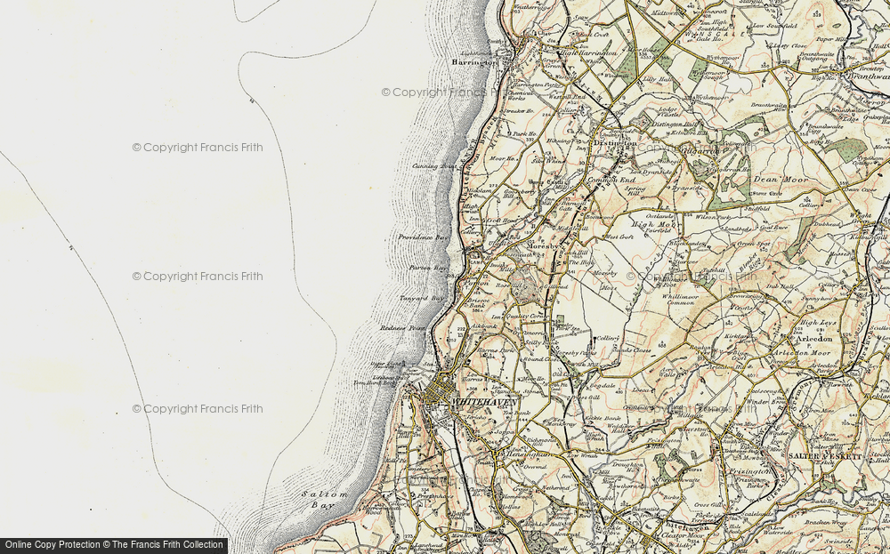 Old Map of Parton, 1901-1904 in 1901-1904