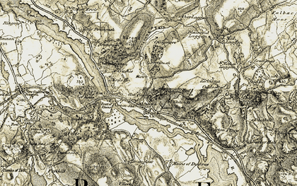 Old map of Arvie Burn in 1905