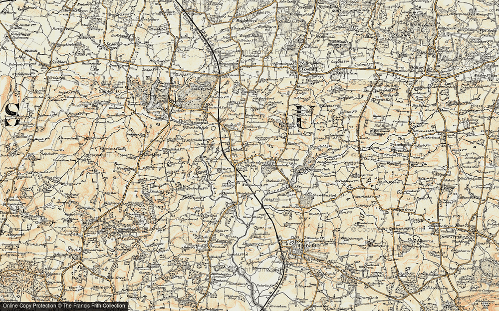 Old Map of Partridge Green, 1898 in 1898