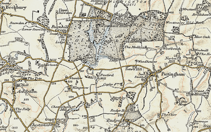 Old map of Wildicote in 1902