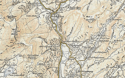 Old map of Aberglaslyn Hall in 1903