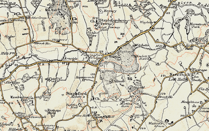 Old map of Albyns in 1898