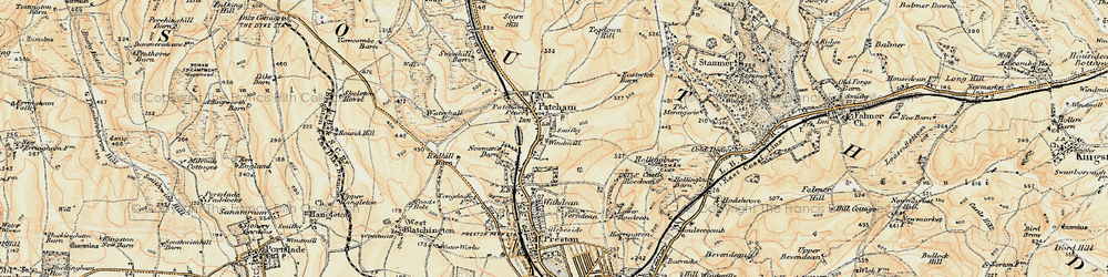 Old map of Patcham in 1898
