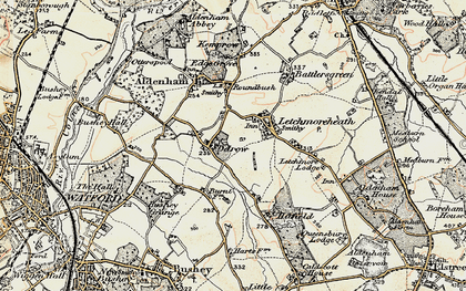 Old map of Patchetts Green in 1897-1898