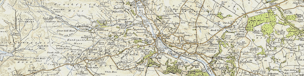 Old map of Pateley Bridge in 1903-1904