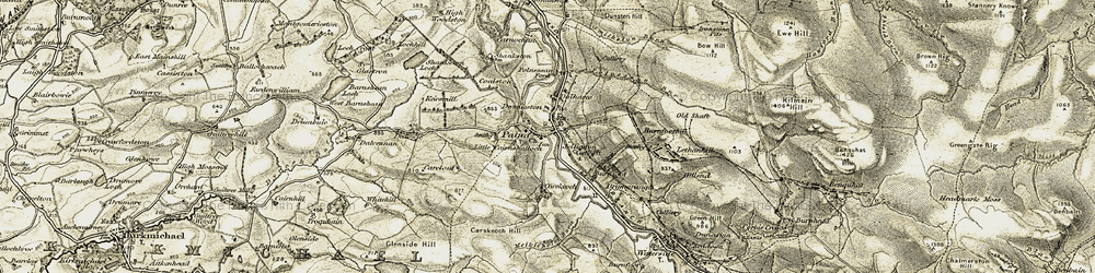 Old map of Whitehill in 1904-1905