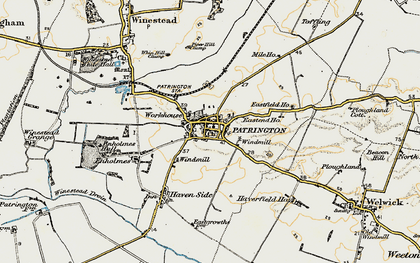 Old map of Patrington in 1903-1908