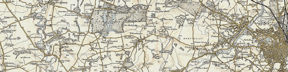 Old map of Westbeech in 1902