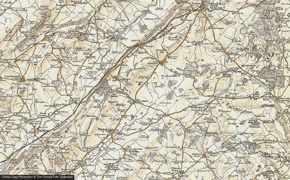 Old Map of Historic Map covering Larden Cott in 1902