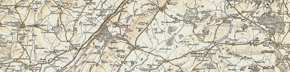 Old map of Larden Cott in 1902