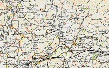 Old map of Whinfell Tarn in 1903-1904
