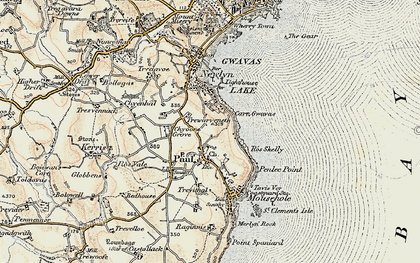 Old map of Paul in 1900