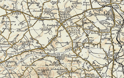 Old map of Paul's Green in 1900