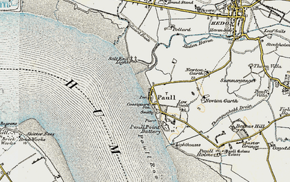 Old map of Paull in 1903-1908