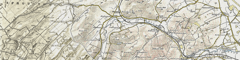 Old map of Whaup Moor in 1901-1904