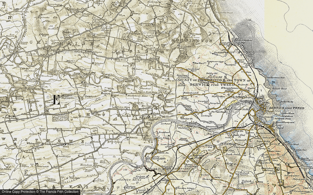 Old Map of Historic Map covering Baitsrand in 1901-1903