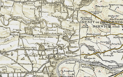 Old map of Baldersbury Hill in 1901-1903