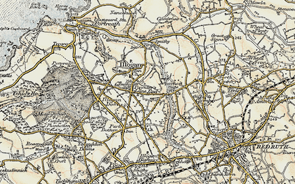 Old map of Paynter's Lane End in 1900