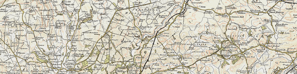 Old map of Windy Pike in 1903-1904