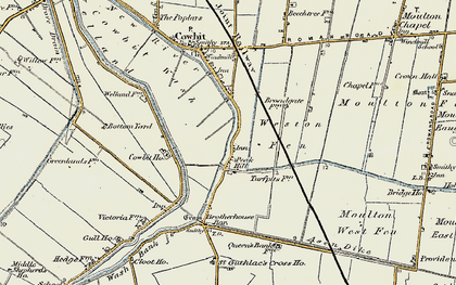 Old map of Weston Fen in 1901-1903
