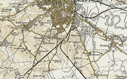 Old map of Pear Tree in 1902-1903