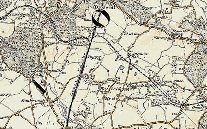 Old map of Peartree in 1898