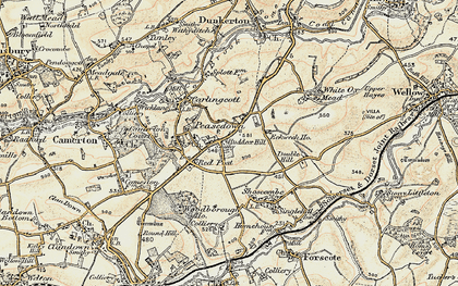 old map of peasedown st john in 1899