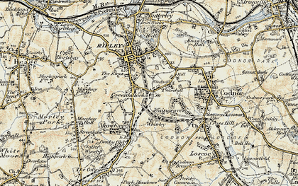 Old map of Peasehill in 1902