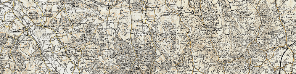 Old map of Winterfold Heath in 1897-1909