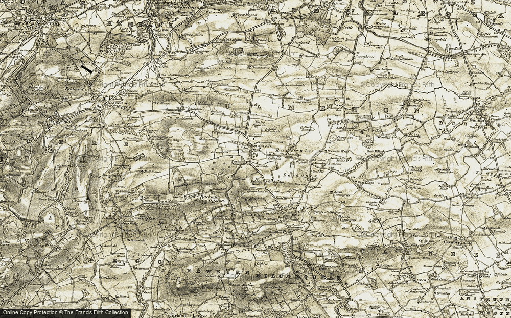 Old Map of Historic Map covering Larennie in 1906-1908