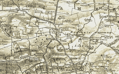 Old map of Larennie in 1906-1908