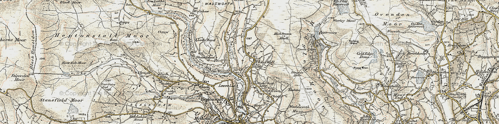 Old map of Winny Stone in 1903