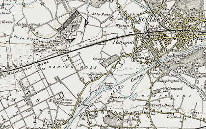 Old map of Peel Green in 1903