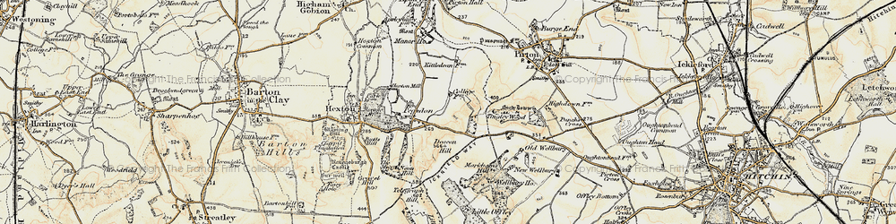 Old map of Tingley Wood in 1898-1899