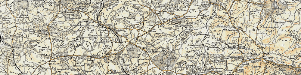 Old map of Pell Green in 1898