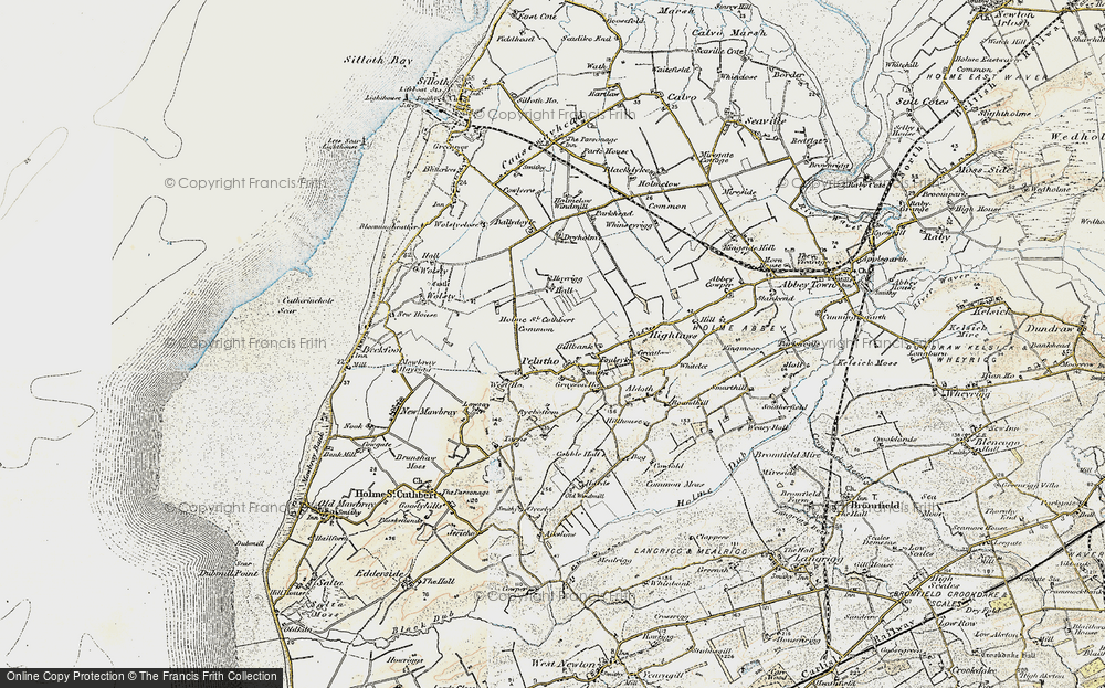 Old Map of Historic Map covering Balladoyle in 1901-1904