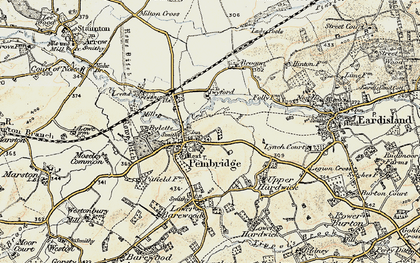 Old map of Pembridge in 1900-1903