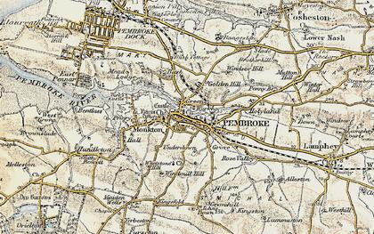 Old map of Pembroke in 1901-1912