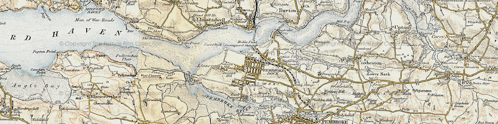 Old map of Pembroke Dock in 1901-1912