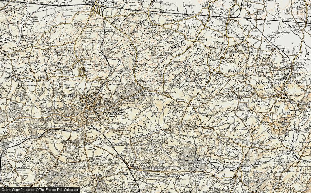 Old Map of Pembury, 1897-1898 in 1897-1898