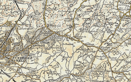Old map of Pembury in 1897-1898