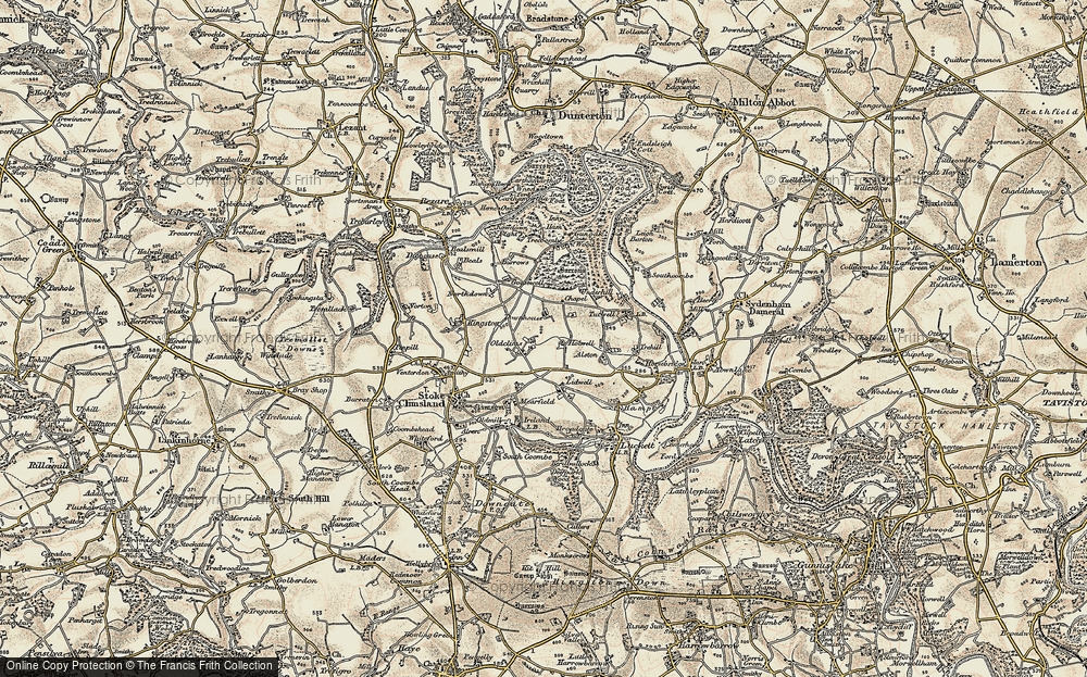 Old Map of Historic Map covering Lidwell in 1899-1900
