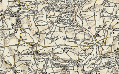 Old map of Lidwell in 1899-1900