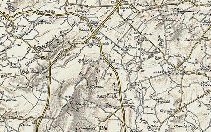 Old map of Blaenau in 1900-1901