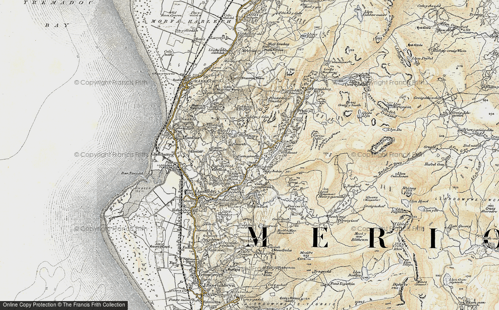 Old Map of Historic Map covering Afon Artro in 1903