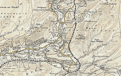 Old map of Pen-y-cae in 1900-1901