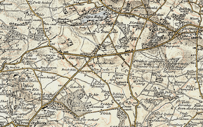 Old map of Rhos in 1902-1903